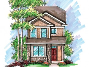 020H-0199 Narrow Lot House Plan