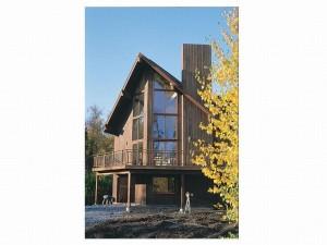 022H-0013 A-Frame House Plan