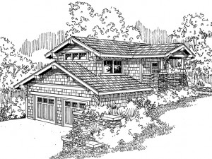 051G-0008 Unique Carriage House Plan