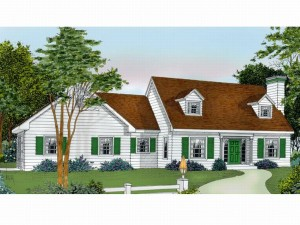 026H-0060 Cape Cod House Plan