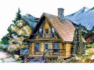032H-0005 Cabin House Plan