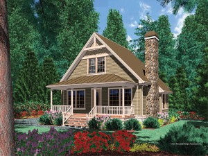 Cabin House Plan 034H-0090