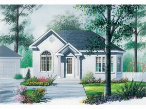 Cottage House Plan 027H-0119