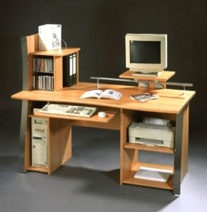 Organized Computer Desk