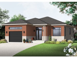 Contemporary House Plan 027H-0296
