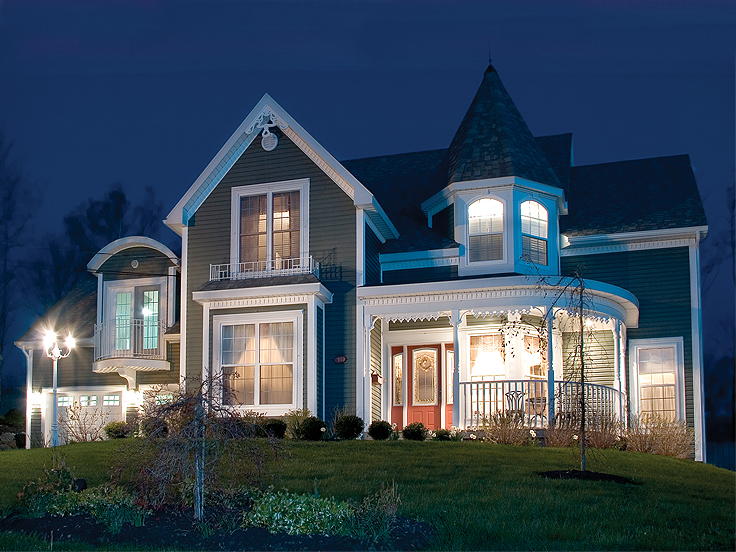 The House Plan Shop Blog » Special Victorian House Plans   The    T Victorian House Plan H