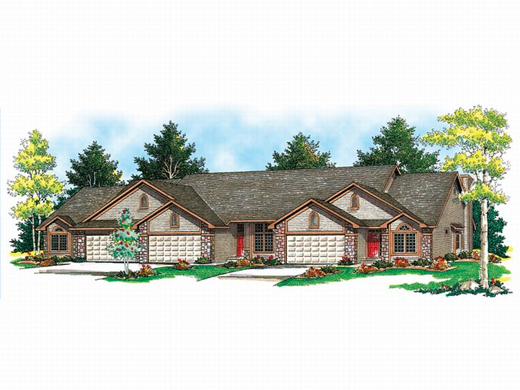 3-4 Unit Multi-Family House Plan 020M-0027