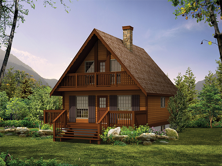 Cabin House Plan 032H-0005