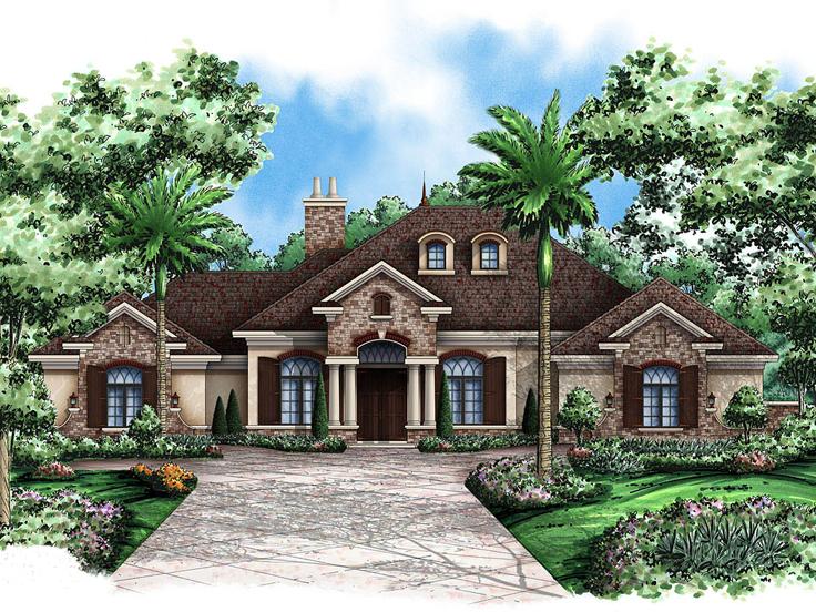 Mediterranean House Plan 037H-0137