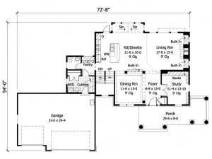 023H-0117 Floor Plan