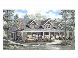 025L-0013 Log Home Plan