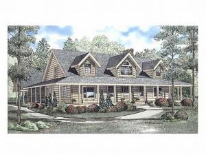 025L-0013 Log Home Plan