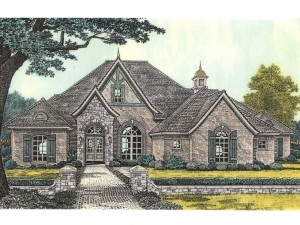 002H-0080 European House Plan