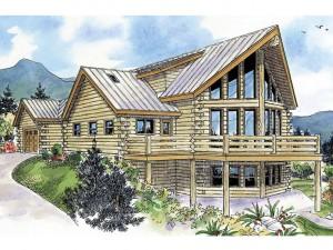 Log Home Plans 051L-0009