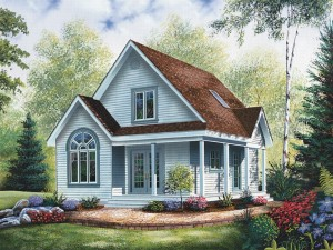 Cottage House Plan 027H-0127