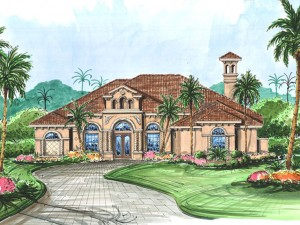 Mediterranean House Plan 040H-0017