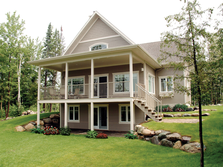 attractive walkout basement house plans #8: The House Plan Featured Vacation Ideal For. Home Plans With Walkout Basement