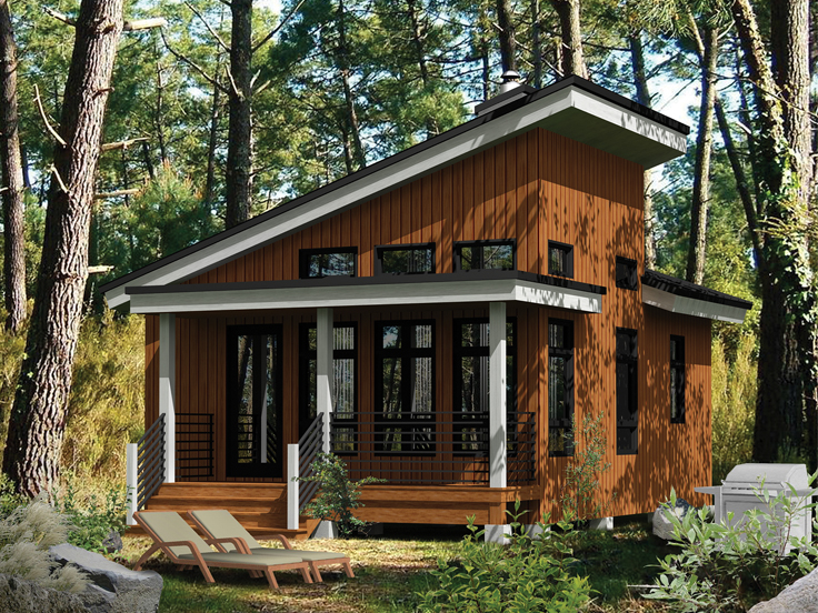 Cabin House Plan 072H-0185