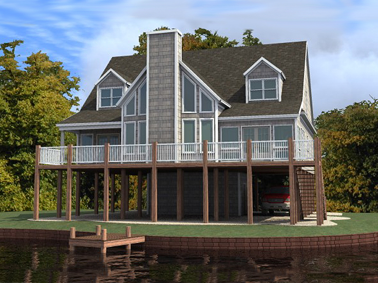 Waterfront House Plan 073H-0041