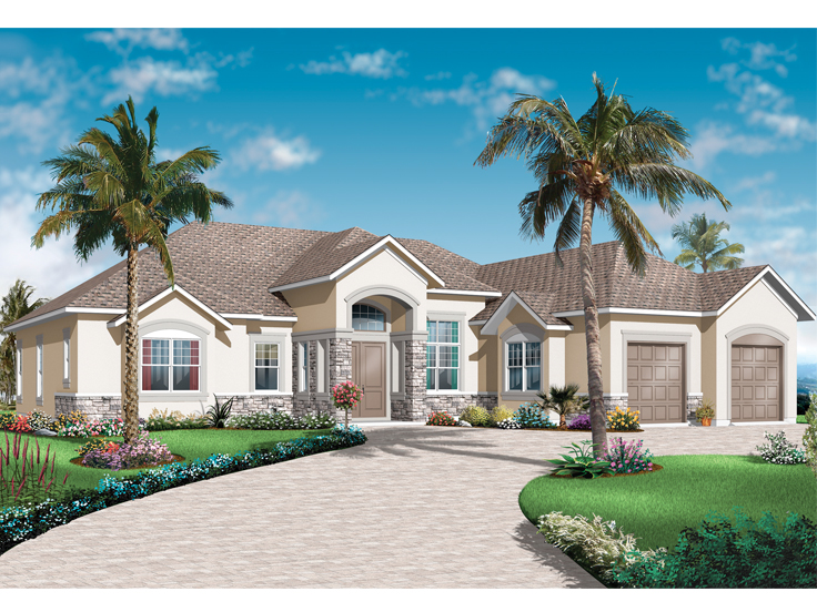 Mediterranean House Plan 027H-0379
