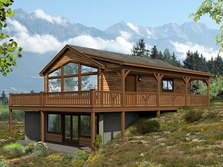 Vacation House Plan 062G-0089