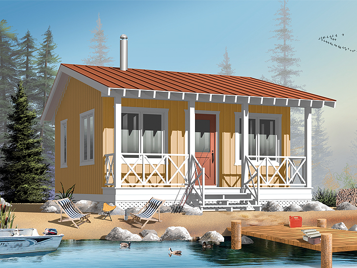 Cabin House Plan 027H-0153