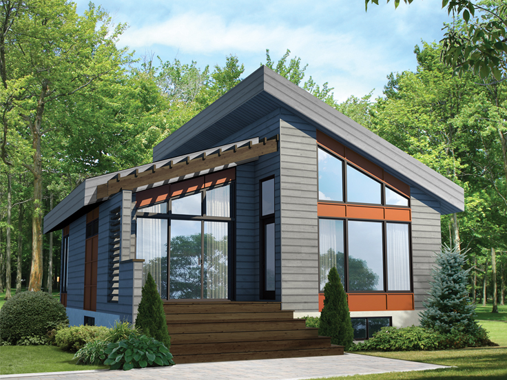 Cabin House Plan 072H-0198