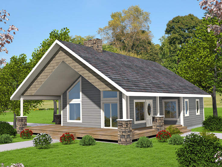 Cabin House Plan 012H-0266