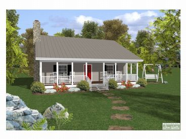 Cottage House Plan - Sater Design Collection - Cottage Home Plan