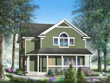 Charming Cottage for a Small Lot (HWBDO67490) | Cottage House Plan