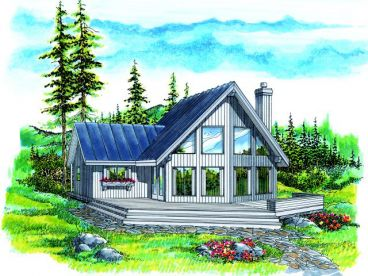 Waterfront home plans and dream vacation home plans are at for Vacation cabin floor plans