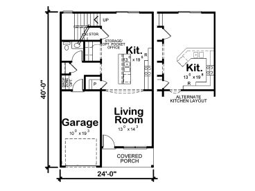 Affordable house plans affordable two story home plan for Cheap two story house plans