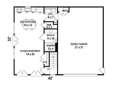 Garage apartment plans two car garage apartment plan Garage with living quarters floor plans