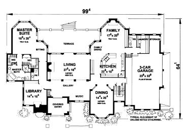1st Floor Plan, 031H-0331