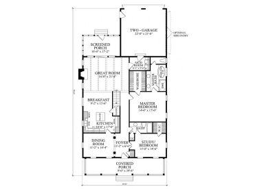 1st Floor Plan, 063H-0150