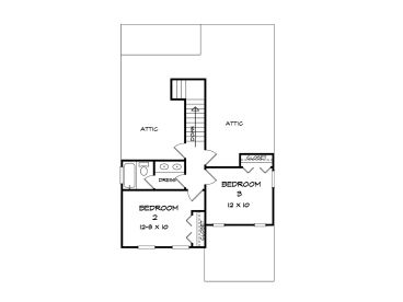 2nd Floor Plan, 019H-0201
