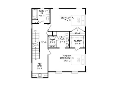 2nd Floor Plan, 062G-0141