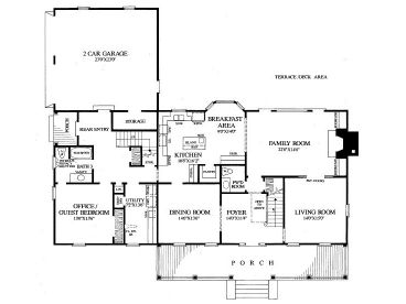 1st Floor Plan, 063H-0127