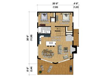 1st Floor Plan, 072H-0206