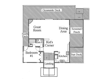 2nd Floor Plan, 041H-0007