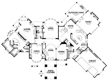 Angled Ranch House Plans