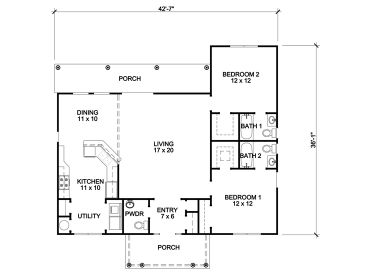 Small House Plans Affordable Empty Nester Home Plan With