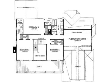 2nd Floor Plan, 063H-0040