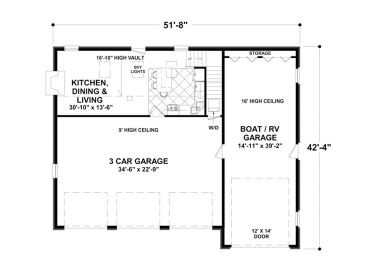 Garage apartment plans garage apartment plan with rv bay 3 bay garage apartment plans