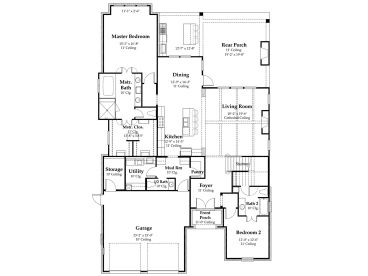 1st Floor Plan, 079H-0015