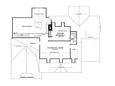 2nd Floor Plan, 063H-0020