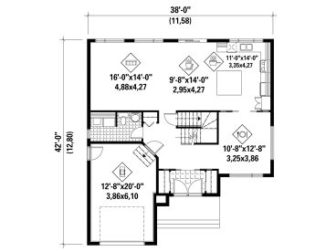 1st Floor Plan, 072H-0162
