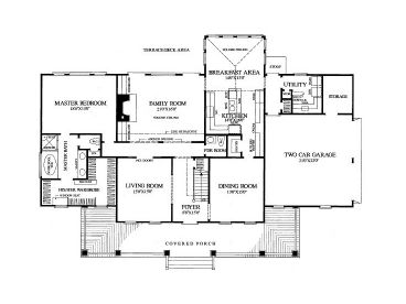 1st Floor Plan, 063H-0009