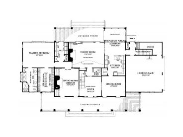 1st Floor Plan, 063H-0146
