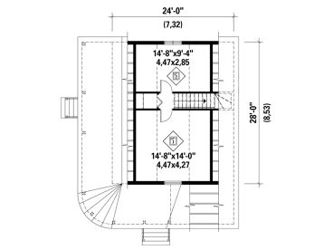 2nd Floor Plan, 072H-0204